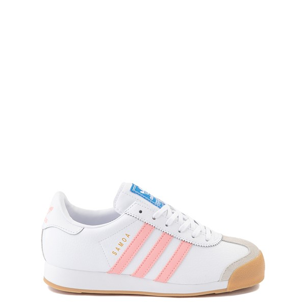 adidas Samoa Athletic Shoe - Big Kid - White / Pink / Gum