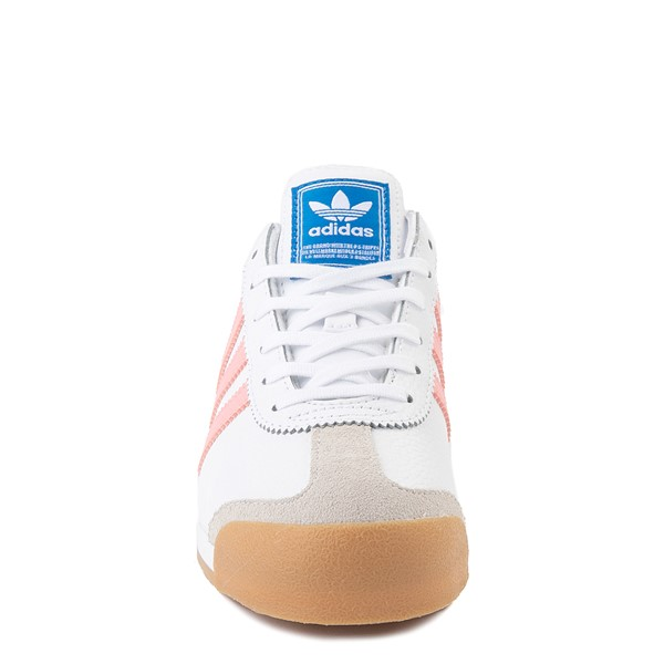 alternate view adidas Samoa Athletic Shoe - Big Kid - White / Pink / GumALT4