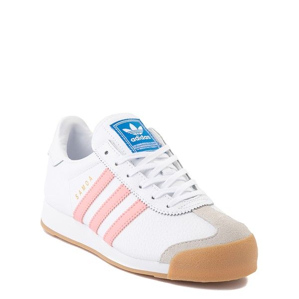 alternate view adidas Samoa Athletic Shoe - Big Kid - White / Pink / GumALT5