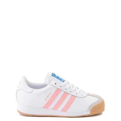 Main view of adidas Samoa Athletic Shoe - Big Kid - White / Pink / Gum