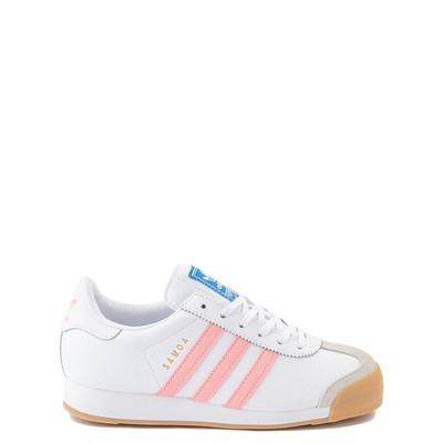 Main view of adidas Samoa Athletic Shoe - Big Kid - White / Pink / Gum