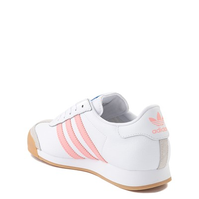 Alternate view of adidas Samoa Athletic Shoe - Big Kid - White / Pink / Gum
