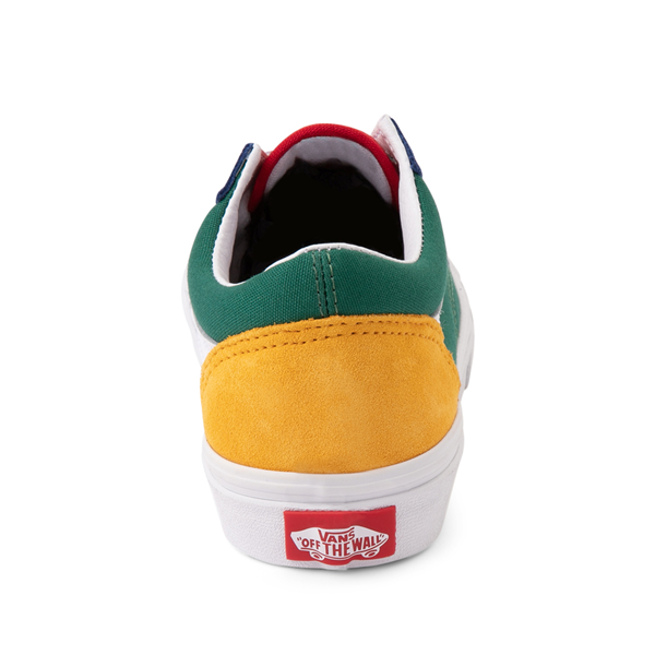 alternate view Vans Old Skool Color-Block Skate Shoe - Little Kid - Blue / Green / YellowALT4