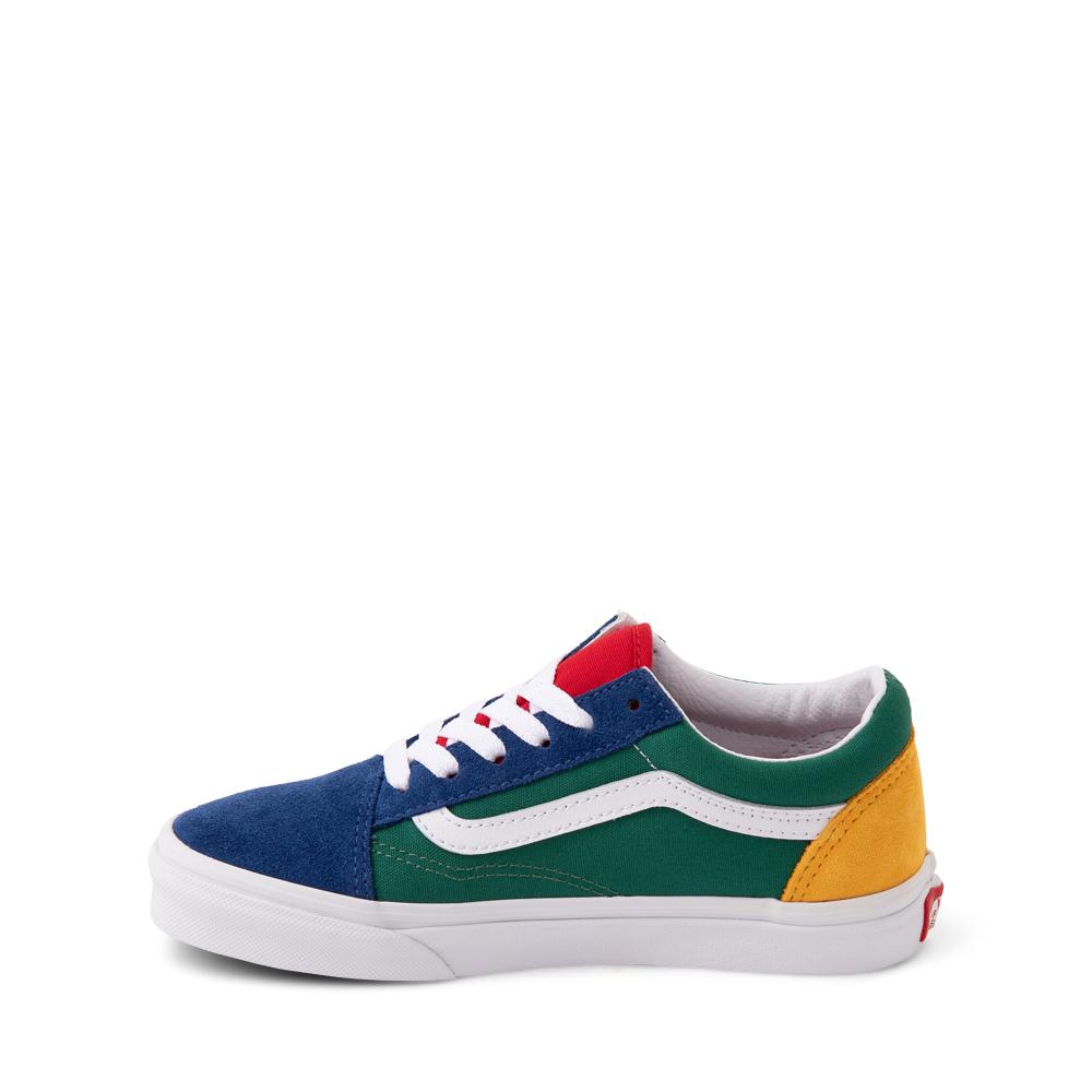 Vans Old Skool Color-Block Skate Shoe - Little Kid - Blue / Green / Yellow