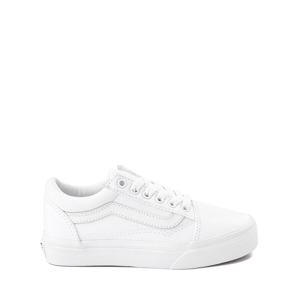 Default view of Vans Old Skool Skate Shoe - Little Kid - True White Monochrome