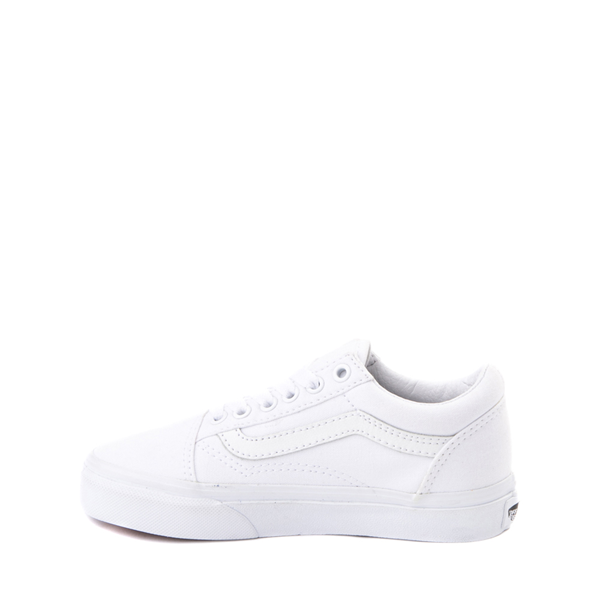 alternate view Vans Old Skool Skate Shoe - Little Kid - True White MonochromeALT1