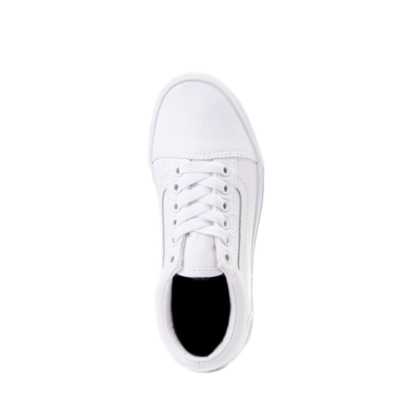 alternate view Vans Old Skool Skate Shoe - Little Kid - True White MonochromeALT2