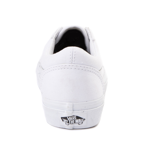 alternate view Vans Old Skool Skate Shoe - Little Kid - True White MonochromeALT4