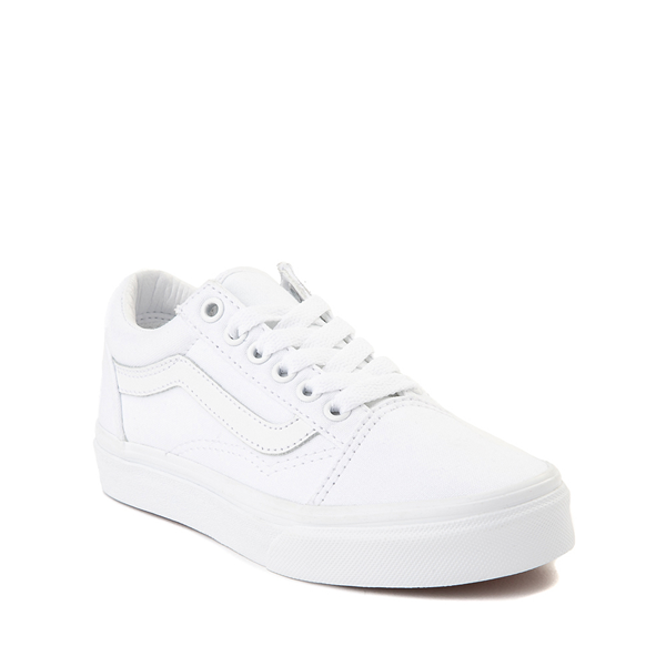 alternate view Vans Old Skool Skate Shoe - Little Kid - True White MonochromeALT5