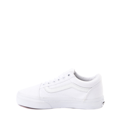 Alternate view of Vans Old Skool Skate Shoe - Little Kid - True White Monochrome