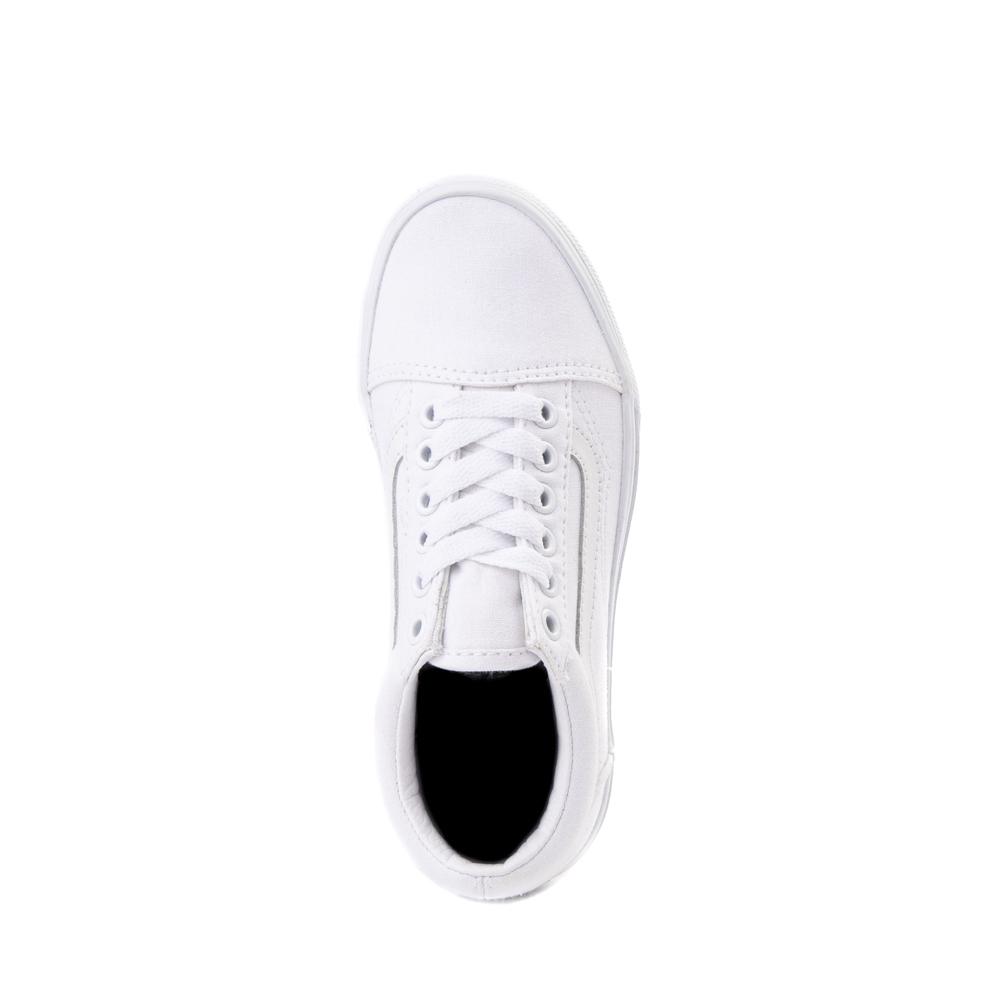 Vans Old Skool Skate Shoe - Little Kid - True White Monochrome