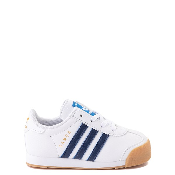 adidas Samoa Athletic Shoe - Baby / Toddler- White / Navy / Gum