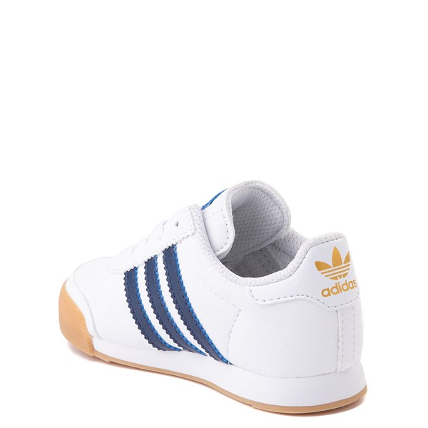 alternate view adidas Samoa Athletic Shoe - Baby / Toddler- White / Navy / GumALT2