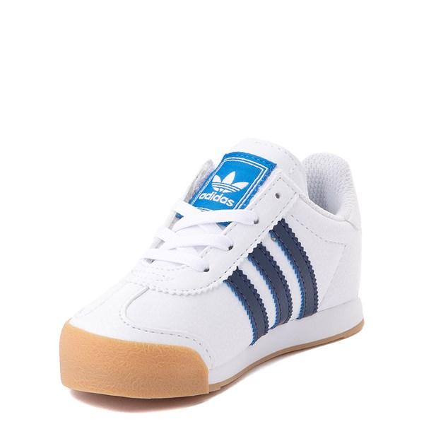 alternate view adidas Samoa Athletic Shoe - Baby / Toddler- White / Navy / GumALT3