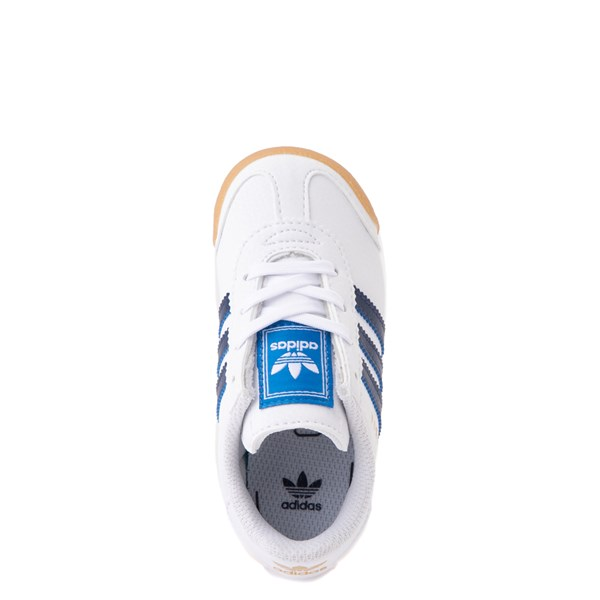alternate view adidas Samoa Athletic Shoe - Baby / Toddler- White / Navy / GumALT4B