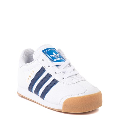 Alternate view of adidas Samoa Athletic Shoe - Baby / Toddler- White / Navy / Gum