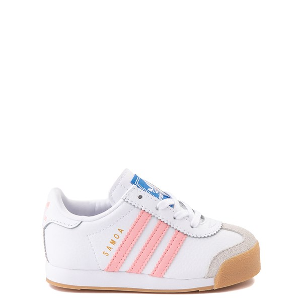 Main view of adidas Samoa Athletic Shoe - Baby / Toddler - White / Pink / Gum