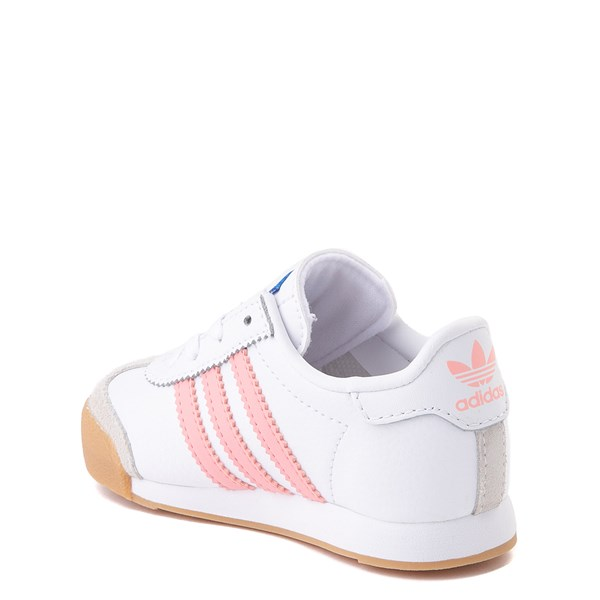 alternate view adidas Samoa Athletic Shoe - Baby / Toddler - White / Pink / GumALT2
