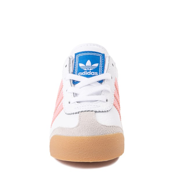 alternate view adidas Samoa Athletic Shoe - Baby / Toddler - White / Pink / GumALT4