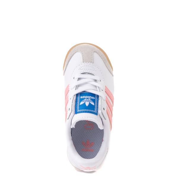 alternate view adidas Samoa Athletic Shoe - Baby / Toddler - White / Pink / GumALT4B