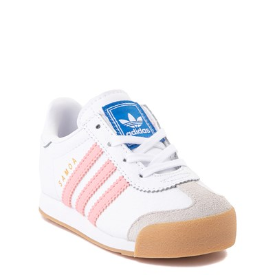 Alternate view of adidas Samoa Athletic Shoe - Baby / Toddler - White / Pink / Gum