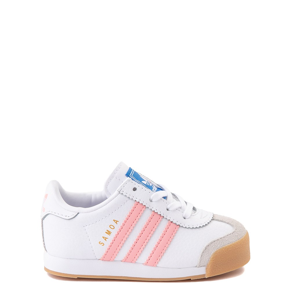 adidas Samoa Athletic Shoe - Baby / Toddler - White / Pink / Gum