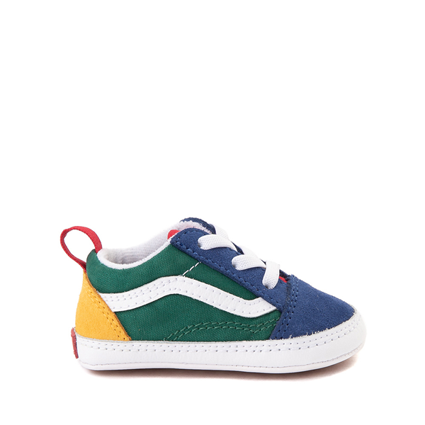 Main view of Vans Old Skool Skate Shoe - Baby - Blue / Green / Yellow