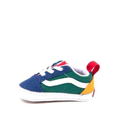 Alternate view of Vans Old Skool Skate Shoe - Baby - Blue / Green / Yellow