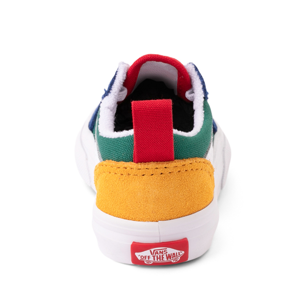 alternate view Vans Old Skool Color-Block Skate Shoe - Baby / Toddler - Blue / Green / YellowALT4