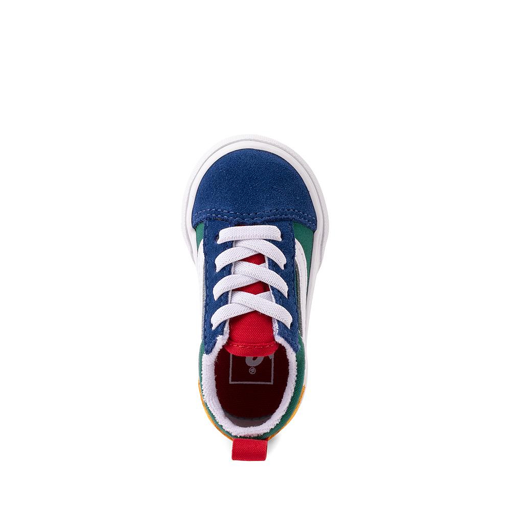 Vans Old Skool Color-Block Skate Shoe - Baby / Toddler - Blue / Green / Yellow
