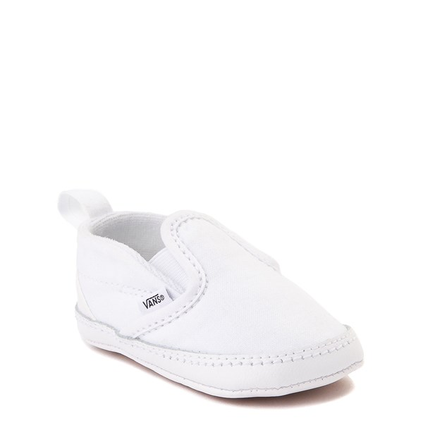 alternate view Vans Slip On Skate Shoe - Baby - True WhiteALT1