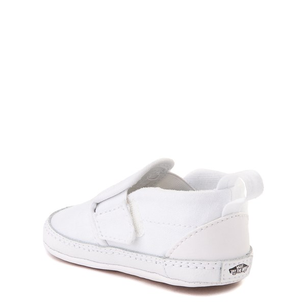 alternate view Vans Slip On Skate Shoe - Baby - True WhiteALT2