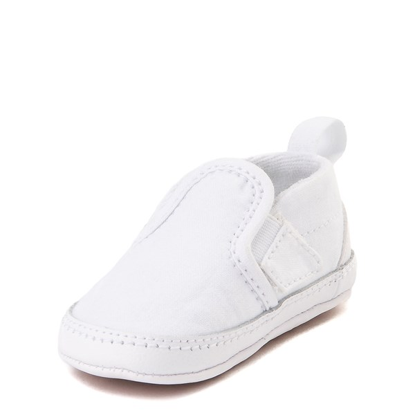 alternate view Vans Slip On Skate Shoe - Baby - True WhiteALT3