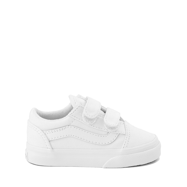 Main view of Vans Old Skool V Skate Shoe - Baby / Toddler - True White
