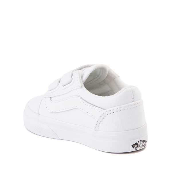 alternate view Vans Old Skool V Skate Shoe - Baby / Toddler - True WhiteALT1