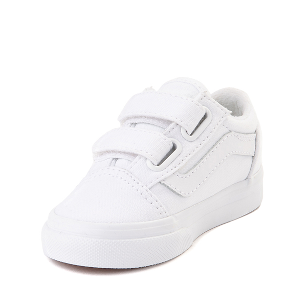 alternate view Vans Old Skool V Skate Shoe - Baby / Toddler - True WhiteALT2