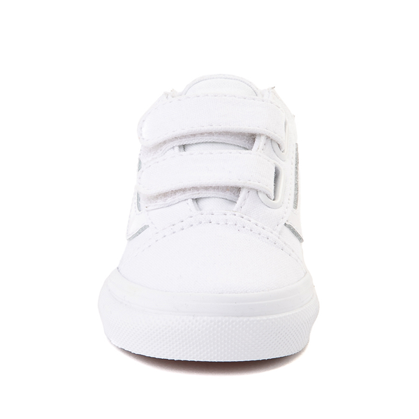 alternate view Vans Old Skool V Skate Shoe - Baby / Toddler - True WhiteALT4