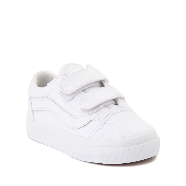 alternate view Vans Old Skool V Skate Shoe - Baby / Toddler - True WhiteALT5