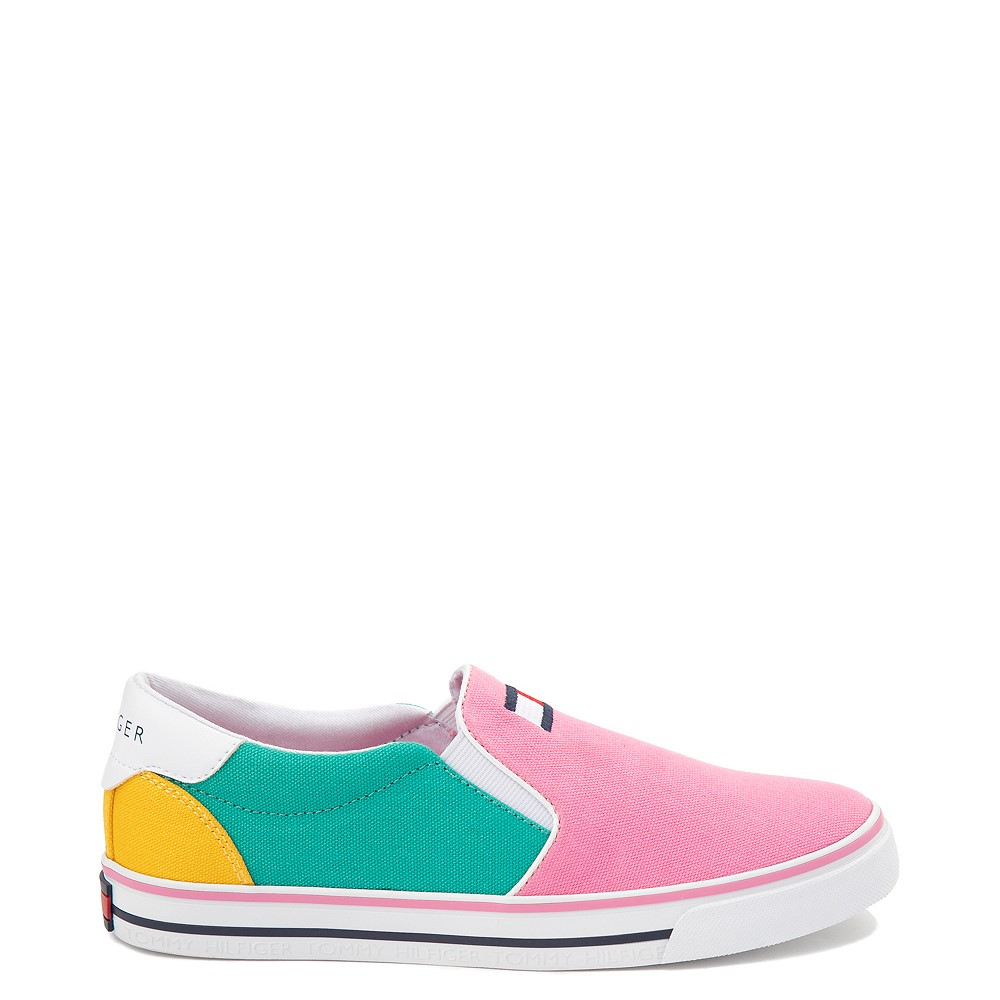 Womens Tommy Hilfiger Oaklyn Color-Block Slip On Casual Shoe - Multicolor