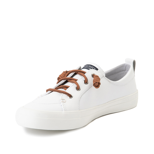 alternate view Womens Sperry Top-Sider Crest Vibe Leather Casual Shoe - WhiteALT2