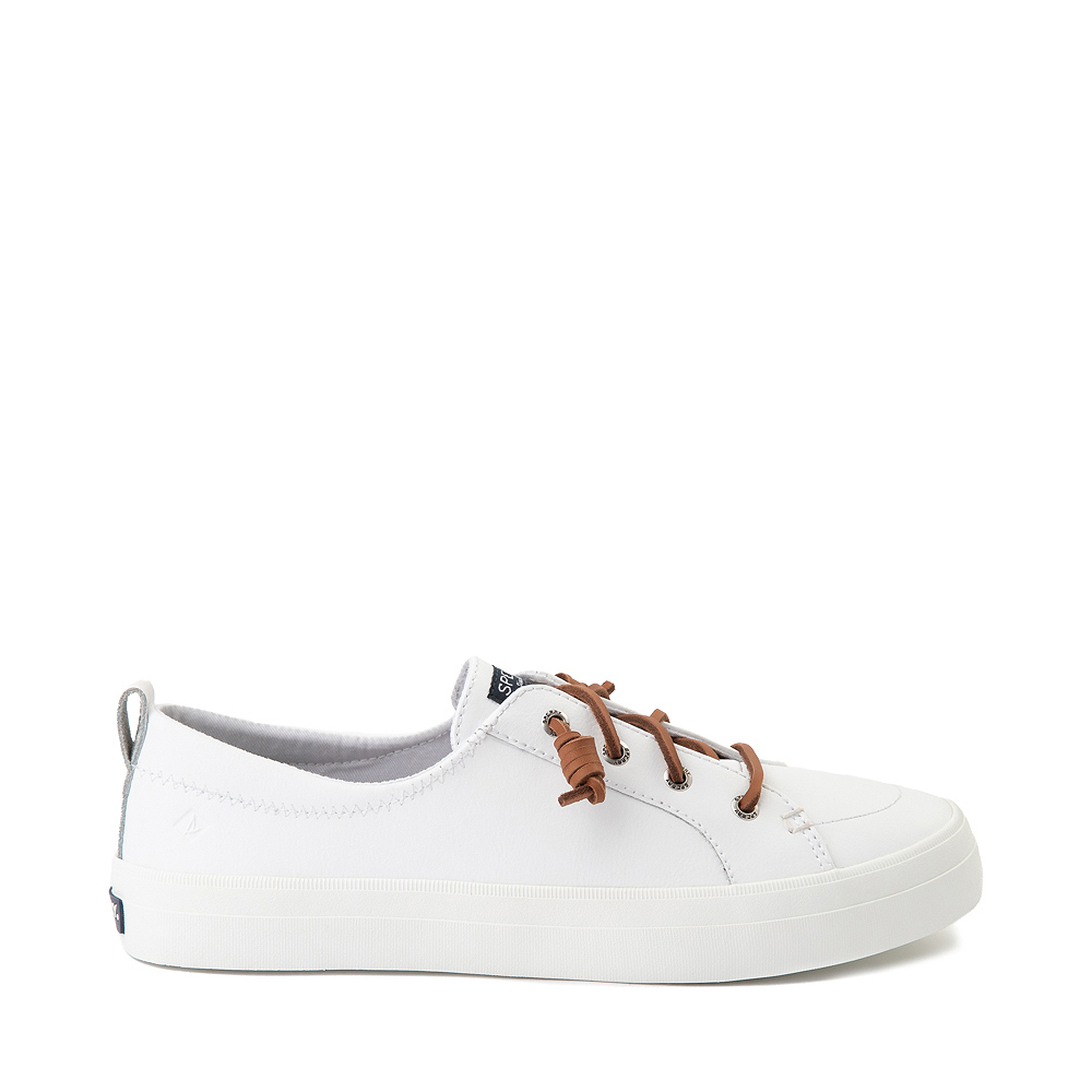 Womens Sperry Top-Sider Crest Vibe Leather Casual Shoe - White