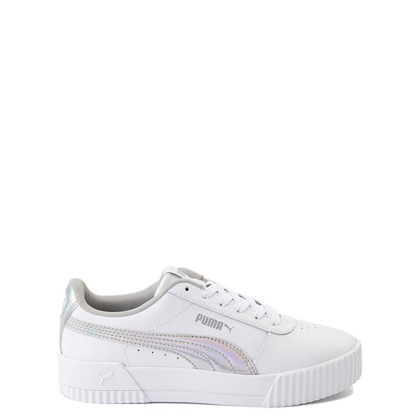 Main view of Puma Carina Athletic Shoe - Little Kid / Big Kid - White / Iridescent