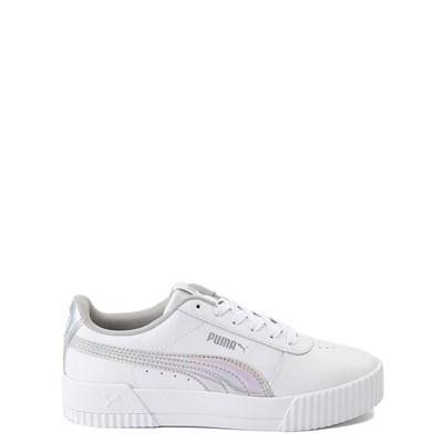 Main view of Puma Carina Athletic Shoe - Big Kid - White / Iridescent