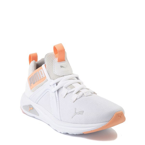 alternate view Puma Enzo Athletic Shoe - Big Kid - White / CoralALT1