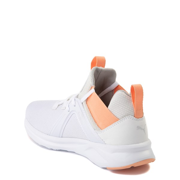 alternate view Puma Enzo Athletic Shoe - Big Kid - White / CoralALT2