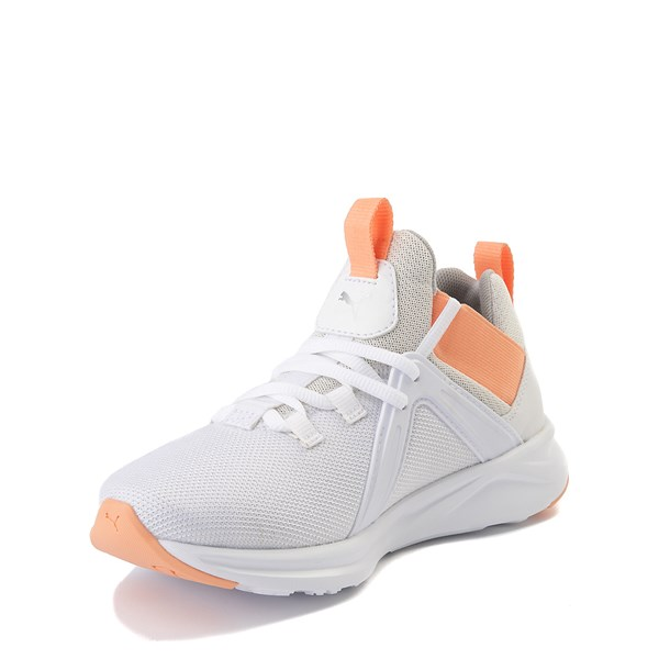 alternate view Puma Enzo Athletic Shoe - Big Kid - White / CoralALT3