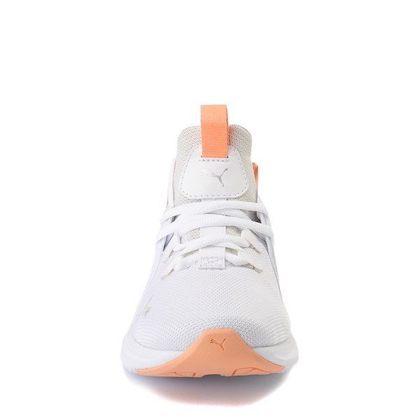 alternate view Puma Enzo Athletic Shoe - Big Kid - White / CoralALT4