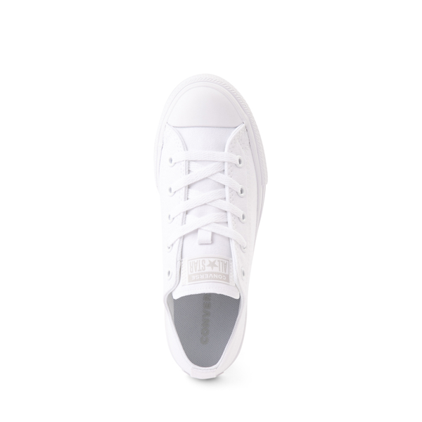 alternate view Converse Chuck Taylor All Star Lo Sneaker - Little Kid - White MonochromeALT2