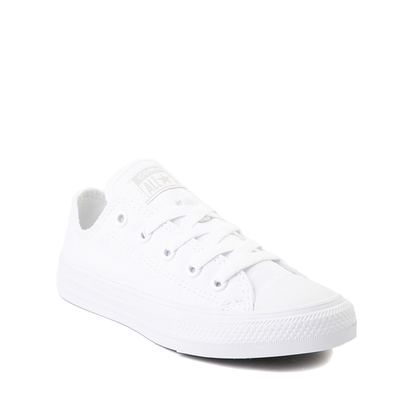 alternate view Converse Chuck Taylor All Star Lo Sneaker - Little Kid - White MonochromeALT5