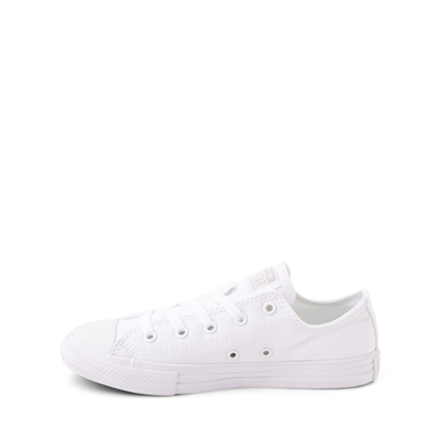 Alternate view of Converse Chuck Taylor All Star Lo Sneaker - Little Kid - White Monochrome